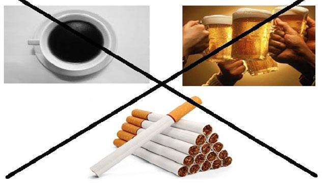 người bệnh trĩ không nên sử dụng thuốc lá, rượu bia...